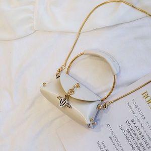 Karis' Kloset Bags - White leather luxe mini bag